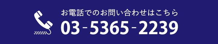お電話でのお問い合わせは03-5365-2239